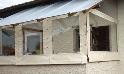 Bâche de fermeture terrasse sur mesure